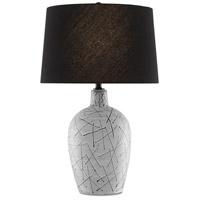 Currey & Company 6000-0556 Pippa 31 inch 150 watt Cloud/Black/Matte Black Table Lamp Portable Light