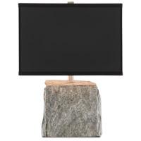 Currey & Company 6000-0560 Boanna 21 inch 150 watt Natural Rock/Satin Nickel Table Lamp Portable Light