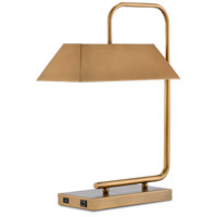 Currey & Company 6000-0565 Hoxton 23 inch 25 watt Light Antique Brass Table Lamp Portable Light
