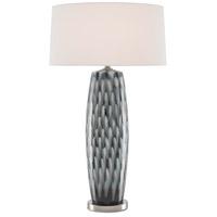 Currey & Company 6000-0567 Minten 35 inch 150 watt Indigo/Cloud/Brushed Nickel Table Lamp Portable Light