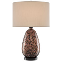 Currey & Company 6000-0578 Tullia 28 inch 150 watt Copper Metallic/Black Table Lamp Portable Light