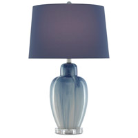 Currey & Company 6000-0584 Solita 28 inch 150 watt Blue/White/Clear/Polished Nickel Table Lamp Portable Light