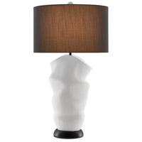 Currey & Company 6000-0588 Zucchero 35 inch 150.00 watt Gesso White/Matte Black Table Lamp Portable Light