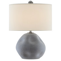 Currey & Company 6000-0592 Riverrock 21 inch 150.00 watt Blue Stone/Antique Nickel Table Lamp Portable Light