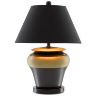 Currey & Company 6000-0600 Winkworth 26 inch 150.00 watt Gold/Black Table Lamp Portable Light