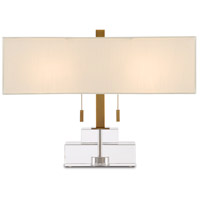 Currey & Company 6000-0602 Chiara 15 inch 75.00 watt Clear/Antique Brass Table Lamp Portable Light