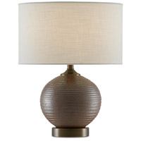 Currey & Company 6000-0604 Lucie 15 inch 75.00 watt Dark Brown/Dark Bronze Table Lamp Portable Light