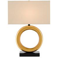 Currey & Company 6000-0609 Kirkos 27 inch 150.00 watt Painted Gold/Glossy Black Table Lamp Portable Light