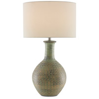 Currey & Company 6000-0611 Loro 31 inch 150.00 watt Dark Moss Green/Gold Table Lamp Portable Light