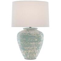 Currey & Company 6000-0617 Mimi 27 inch 150.00 watt Aqua/Cream Table Lamp Portable Light