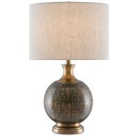 Currey & Company 6000-0629 Mizmaze 27 inch 150.00 watt Antique Brass Table Lamp Portable Light Barry Goralnick Collection