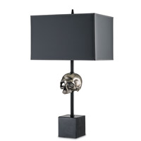 Currey & Company Momento De Mori 1 Light Table Lamp in Antique Nickel and Black 6007