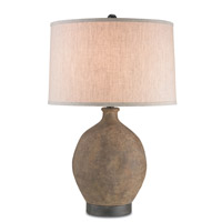Petra 14 inch 150 watt Bronze / Distressed Black Table Lamp Portable Light