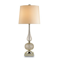 Currey & Company Affaire 1 Light Table Lamp in Gold Flecked Blown Glass/Brass 6020