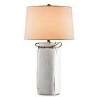Currey & Company Sailaway 1 Light Table Lamp in White Distress Crackle 6022