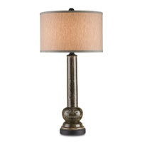 Currey & Company Supreme 1 Light Table Lamp in Antique Dark Brown 6027