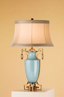 Currey & Company Delphine 1 Light Table Lamp in Blue 6030