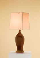 Currey & Company Chilton 1 Light Table Lamp in Chocolate 6034