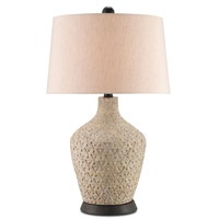 Carmen  32 inch 150 watt Antique White Table Lamp Portable Light