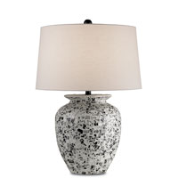 Currey & Company Raconteur 1 Light Table Lamp in Black/White Mosaic 6041
