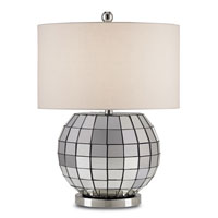Currey & Company Mason 1 Light Table Lamp in Polished Nickel 6042