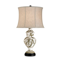 Currey & Company Giardino 1 Light Table Lamp in Tawny White 6049