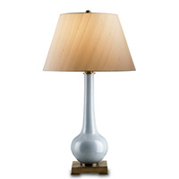 Currey & Company Dante 1 Light Table Lamp in Blue 6062