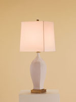 Currey & Company Chilton 1 Light Table Lamp in Antique White Crackle 6064
