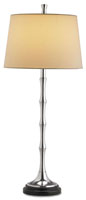 Currey & Company Reveille 1 Light Table Lamp in Polished Aluminium/Black 6065