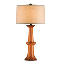 Currey & Company Windowbox 1 Light Table Lamp in Antique Orange and Distressed Black 6077