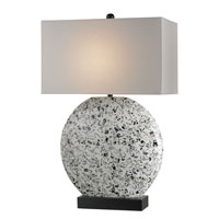 Currey & Company Newsprint 1 Light Table Lamp in Black/White 6083