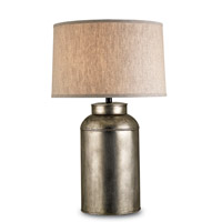 Currey & Company 6088 Pioneer 32 inch 150 watt Antique Nickel Table Lamp Portable Light photo thumbnail