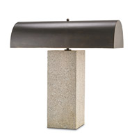 Currey & Company Bravura 2 Light Table Lamp in Polished and Bronze Gold 6105