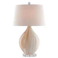 Opal 32 inch 150 watt Amber and Clear Table Lamp Portable Light
