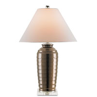 Currey & Company Ima 1 Light Table Lamp in Copper and Clear 6112