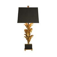 Renaissance 40 inch 150 watt Black/Gold Leaf Table Lamp Portable Light