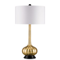 Currey & Company Ballet 1 Light Table Lamp in Contemporary Gold Leaf and Black 6129