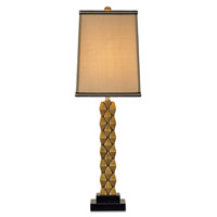Currey & Company Debonair 1 Light Table Lamp in Antique Brass/Black 6142