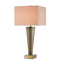 Currey & Company Kerry 1 Light Table Lamp in Ebony and Antique Brass 6163