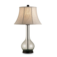 Currey & Company Lipari 1 Light Table Lamp in Bronze/Recycled Glass 6164