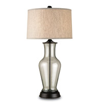 Currey & Company Pesaro 1 Light Table Lamp in Bronze/Recycled Glass 6165