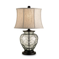 Currey & Company Vetro 1 Light Table Lamp in Bronze/Recycled Glass 6166