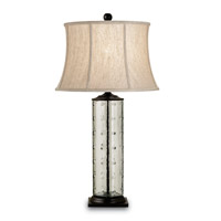 Currey & Company Rossano 1 Light Table Lamp in Bronze/Recycled Glass 6167