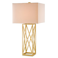 Currey & Company Clemente 1 Light Table Lamp in Contemporary Gold Leaf 6175