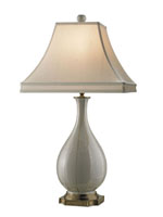 Currey & Company Voyeur 1 Light Table Lamp in Antique White/ Gold/ Brass 6177