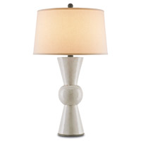 Upbeat 31 inch 150 watt Antique White Table Lamp Portable Light