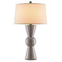 Upbeat 31 inch 150 watt Gray Table Lamp Portable Light
