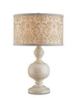 Currey & Company Elise 1 Light Table Lamp in Washed Buff 6216