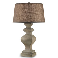 Currey & Company Petrus 1 Light Table Lamp in Washed Flax 6218