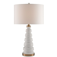 Gracewood 28 inch 150 watt White and Coffee Bronze Table Lamp Portable Light